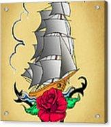 Old Ship Tattoo  Acrylic Print