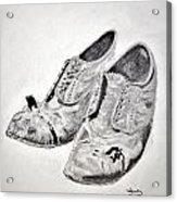 Old Shoes Acrylic Print by Glenn Calloway
