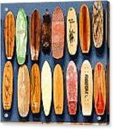 Old Skateboards On Display Acrylic Print