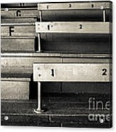 Old Stadium Bleachers Acrylic Print