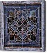 Old Stain Glass Window Acrylic Print