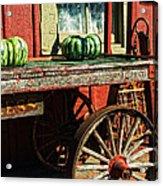 Old Station Cart Acrylic Print