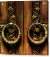 Old Steel Door Acrylic Print