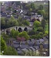 Old Stirling Bridge And Houses As Visible From Stirling Castle Acrylic Print