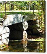 Old Stone Bridge Acrylic Print by Barbara McDevitt