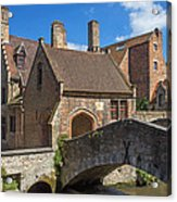 Old Stone Bridge In Bruges  Acrylic Print
