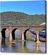 Old Stone Bridge - Johnstown Pa Acrylic Print
