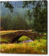 Old Stone Bridge Over Kinglas River. Scotland Acrylic Print