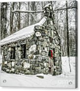 Old Stone Chapel Stowe Vermont Acrylic Print