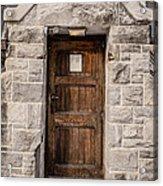 Old Stone Church Door Acrylic Print by Edward Fielding