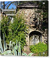 Old Stone Hearth And Fireplace Acrylic Print