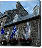 Old Stone Houses In Quebec City Canada  Acrylic Print