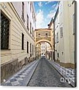 Old Street In Prague Acrylic Print