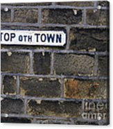 Old Street Sign Acrylic Print