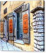 old street Tallin Acrylic Print