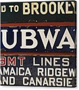 Old Subway Signs Acrylic Print