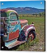 Old Taos Pickup Truck Acrylic Print