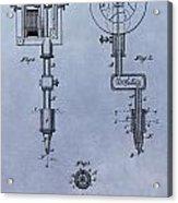 Old Tattoo Gun Patent Acrylic Print