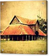 Old Texas Barn Acrylic Print by Julie Hamilton