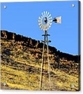 Old Texas Farm Windmill Acrylic Print