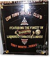 Old Texas Safe Acrylic Print