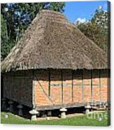 Old Thatched Barn Britain Acrylic Print