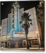 Old Theatre In Roseville California...  Acrylic Print by Israel Marino