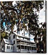 Old Thursby Plantation House Acrylic Print