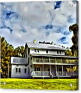 Old Thursby Plantation House Two Acrylic Print