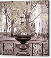 Old Time Fountain Acrylic Print