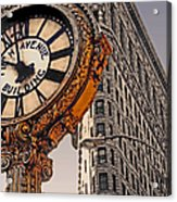 Old Time - Nyc Acrylic Print by Linda  Parker