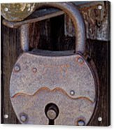 Old Time Padlock Acrylic Print