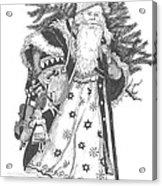 Old Time Santa With Violin Acrylic Print