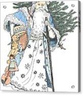 Old Time Santa With Violin2 Acrylic Print
