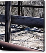 Old Timey Foot Bridge Acrylic Print