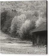 Old Tobacco Barn In Black And White Acrylic Print
