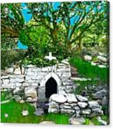 Old Tomb In The Countryside Ireland Acrylic Print