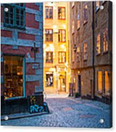 Old Town Alley Acrylic Print