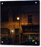 Old Town At Night Acrylic Print