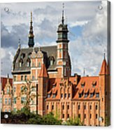 Old Town Of Gdansk In Poland Acrylic Print