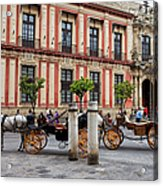 Old Town Of Seville In Spain Acrylic Print