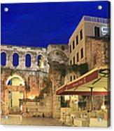 Old Town Of Split At Dusk Croatia Acrylic Print