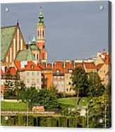 Old Town Of Warsaw Skyline Acrylic Print