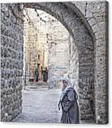 Old Town Street Of Jerusalem Israel Acrylic Print