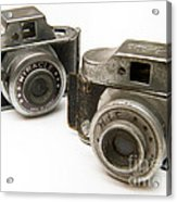 Old Toy Cameras Acrylic Print