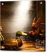 Old Toys In The Attic Acrylic Print by Olivier Le Queinec