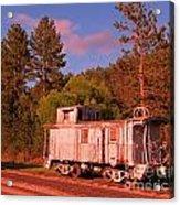 Old Train Caboose Acrylic Print