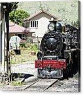 Old Train Engine Acrylic Print