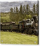 Old Train Steam Engine At The Fort Edmonton Park Acrylic Print