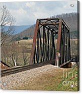 Old Train Trestle Acrylic Print
